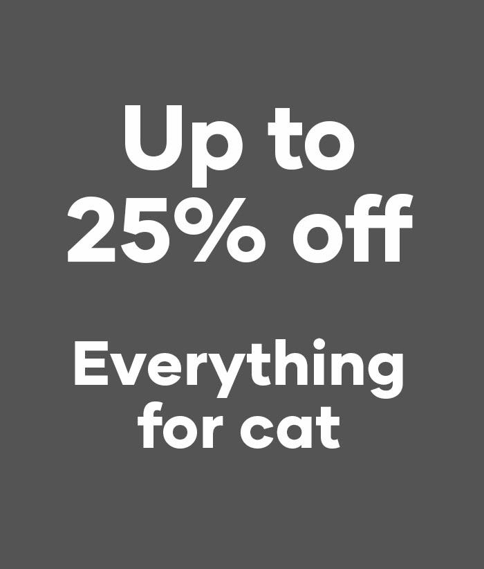 25off everything for cat