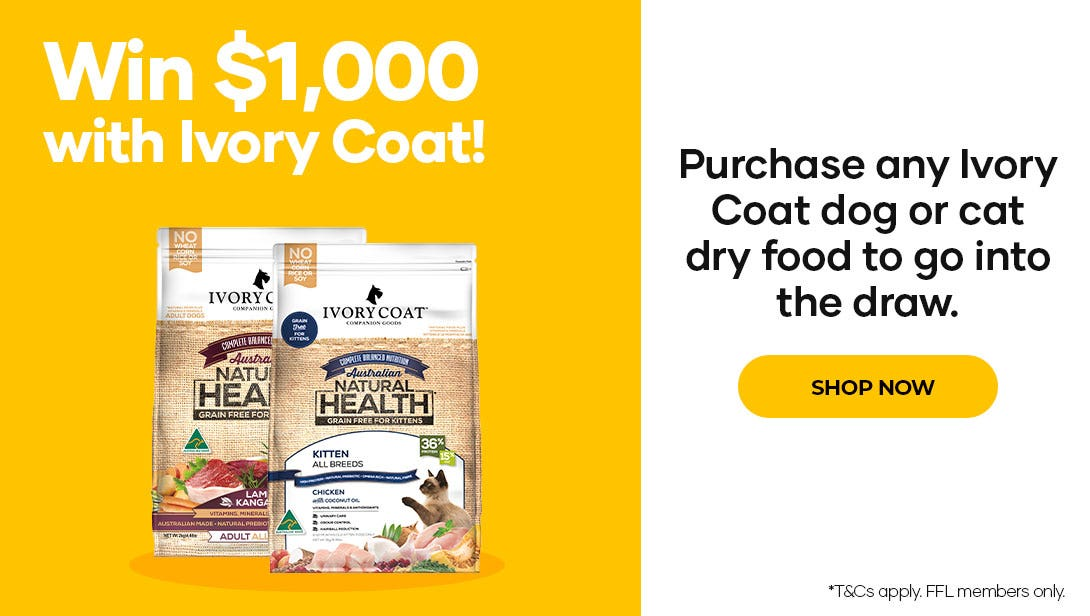 Win $1000 with Ivory Coat dog or cat dry food. Shop now!