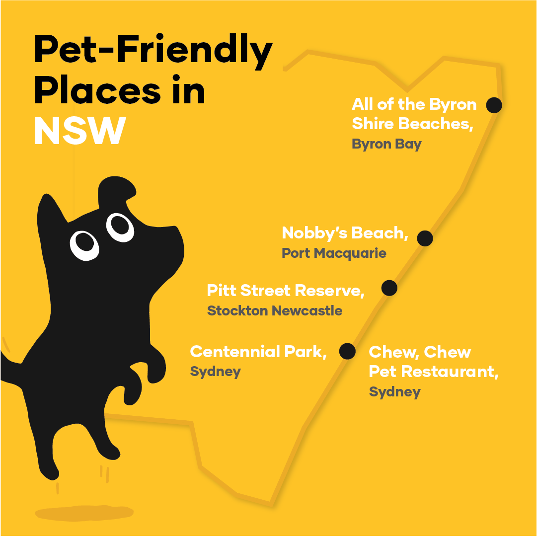Map of pet-friendly places in New South Wales